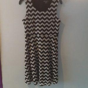 Black and White Chevron Mini Dress